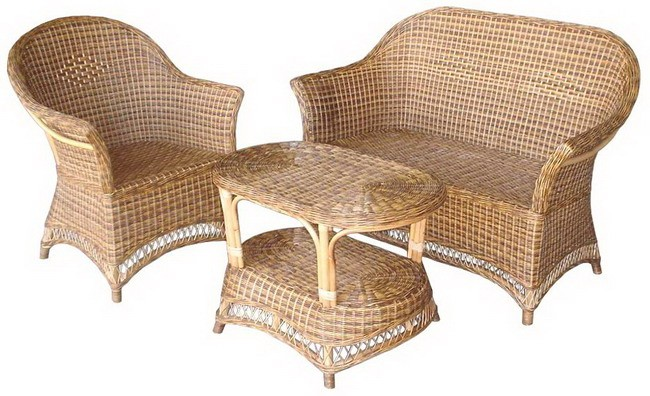 Outstanding Cane Sofa Set 2 Chairs And 1 Table Craftoindia Spiritservingveterans Wood Chair Design Ideas Spiritservingveteransorg